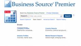 Business Source Premier screenshot