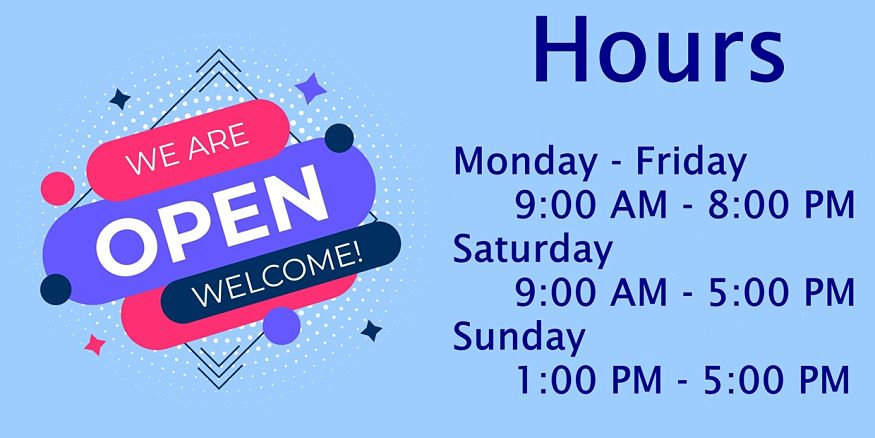 Hours open graphic