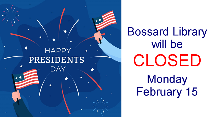 Closed Presidents' Day graphic